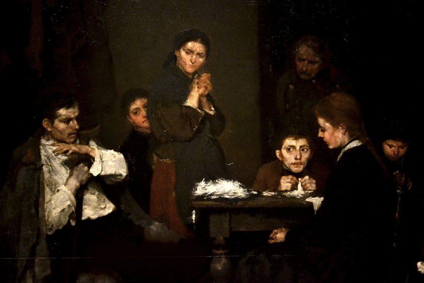MUNKÀCSY Mihály, Making Lint, Magyar Nemzeti Galéria Budapest