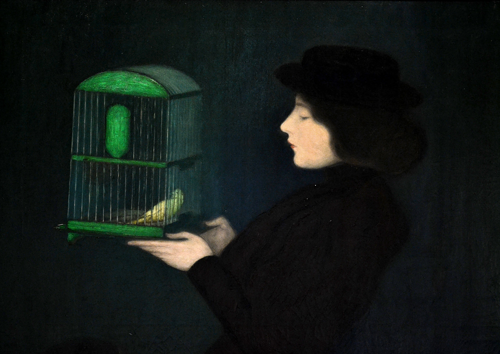 Rippl-Rónai József, Woman with Bird cage, Magyar Nemzeti Galéria Budapest