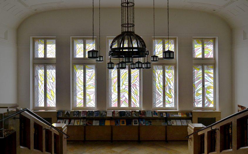 Bleiglasfenster von K.O.Götz in den Kunstsammlungen Chemnitz