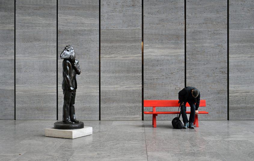 Museum der bildenden Künste Leipzig, Skulptur am Eingang