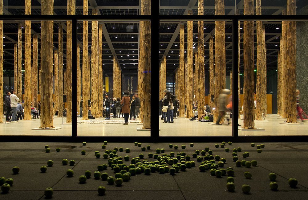 Neue Nationalgalerie, David Chipperfield - Sticks and Stones, eine Intervention