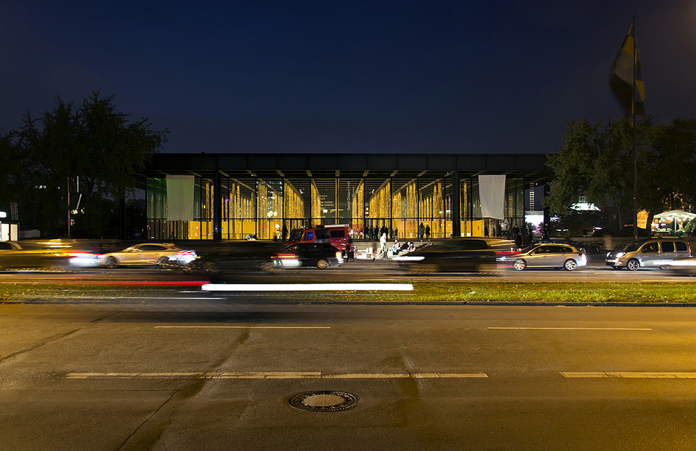 Neue Nationalgalerie, Nacht, David Chipperfield, Sticks and Stones