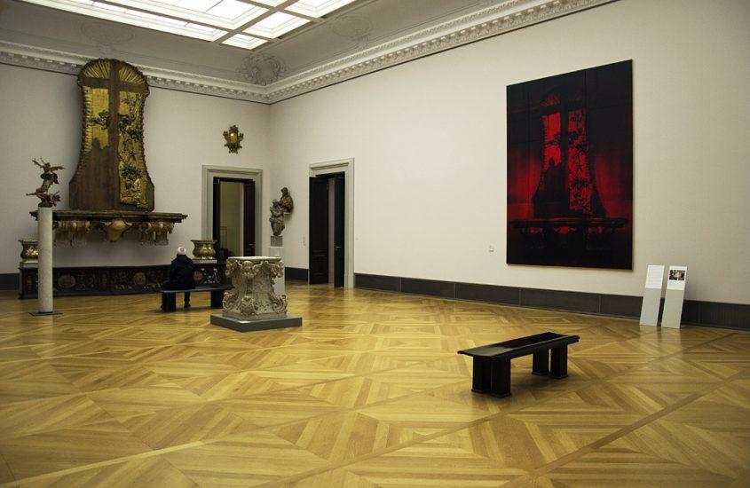 Bodemuseum, Berlin, Johann Paul Egell, Mannheimer Hochaltar; Mark Alexander, Red Mannheim I