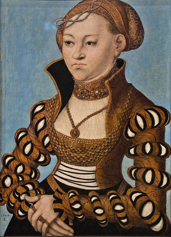 Hessisches Landesmuseum Darmstadt, Lucas Cranach d.Ä., Bildnis der Sibylle von Sachsen