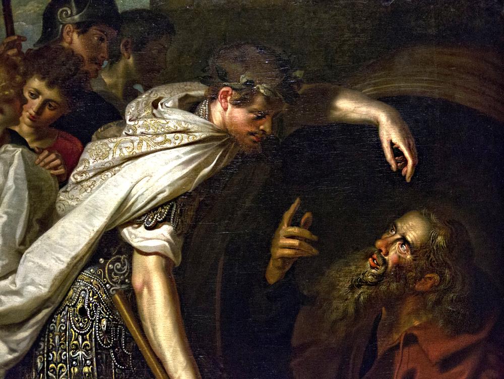 Hessisches Landesmuseum Darmstadt, Flämischer Maler, Alexander der Große bei Diogenes