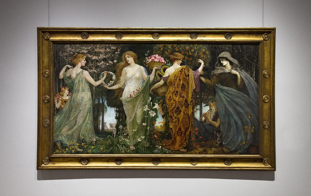 Hessisches Landesmuseum Darmstadt, Walter Crane, Die vier Jahreszeiten