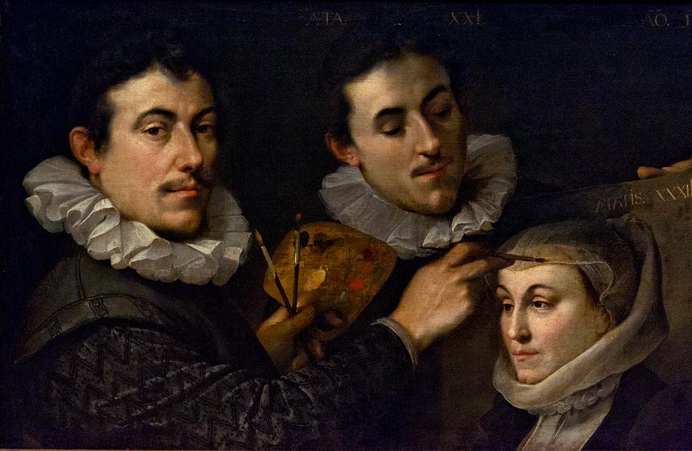 Hessisches Landesmuseum Darmstadt, Joseph Heintz d.Ä., Selbstbildnis mit Geschwistern