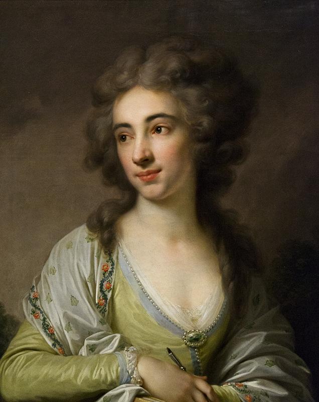 Hessisches Landesmuseum Darmstadt, Johann Baptist Lampi d.Ä., Bildnis einer Dame als Malerin