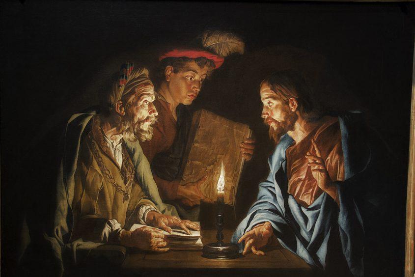 Hessisches Landesmuseum Darmstadt, Matthias Stomer, Christus und Nikodemus