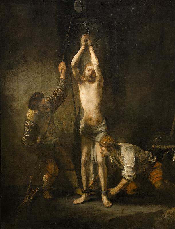Hessisches Landesmuseum Darmstadt, Rembrandt van Rijn, Geißelung Christi