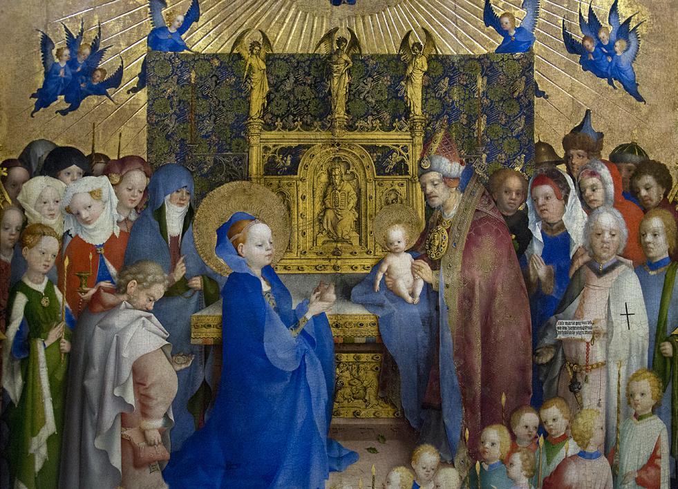 Hessisches Landesmuseum Darmstadt, Stefan Lochner, Darbringung im Tempel