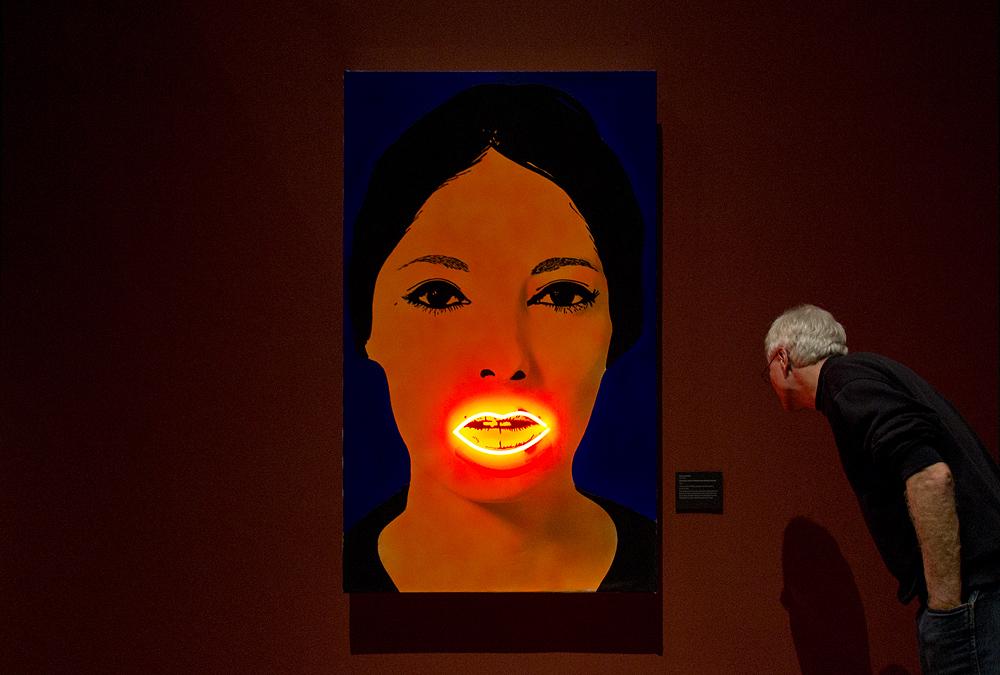 Hessisches Landesmuseum Darmstadt, Elaine Sturtevant, Peinture à haute tension (nach Martial Raysse)