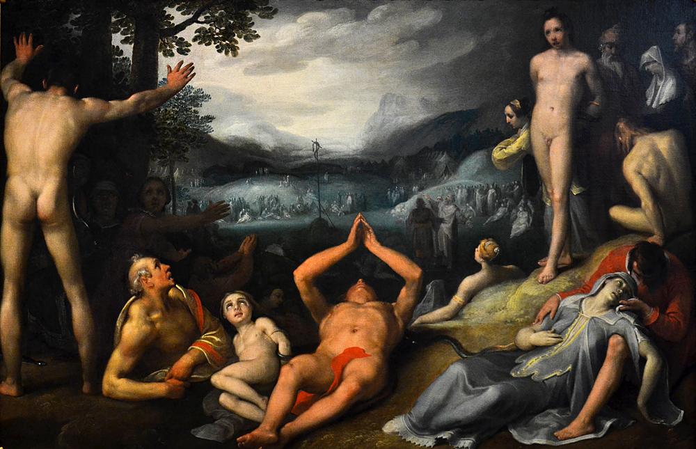 Hessisches Landesmuseum Darmstadt, Cornelis Cornelisz van Haarlem, Die eherne Schlange