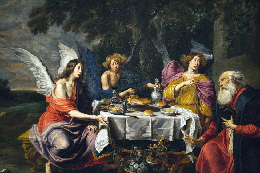 Hessisches Landesmuseum Darmstadt, Willem van Herp, Der Besuch der Engel bei Abraham