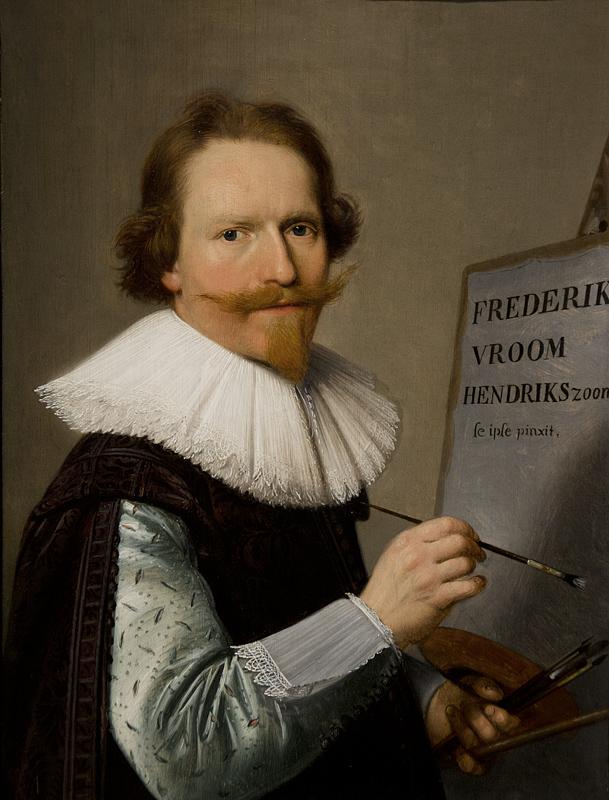Hessisches Landesmuseum Darmstadt, Frederik Hendriksz. Vroom, Selbstbildnis vor der Staffelei