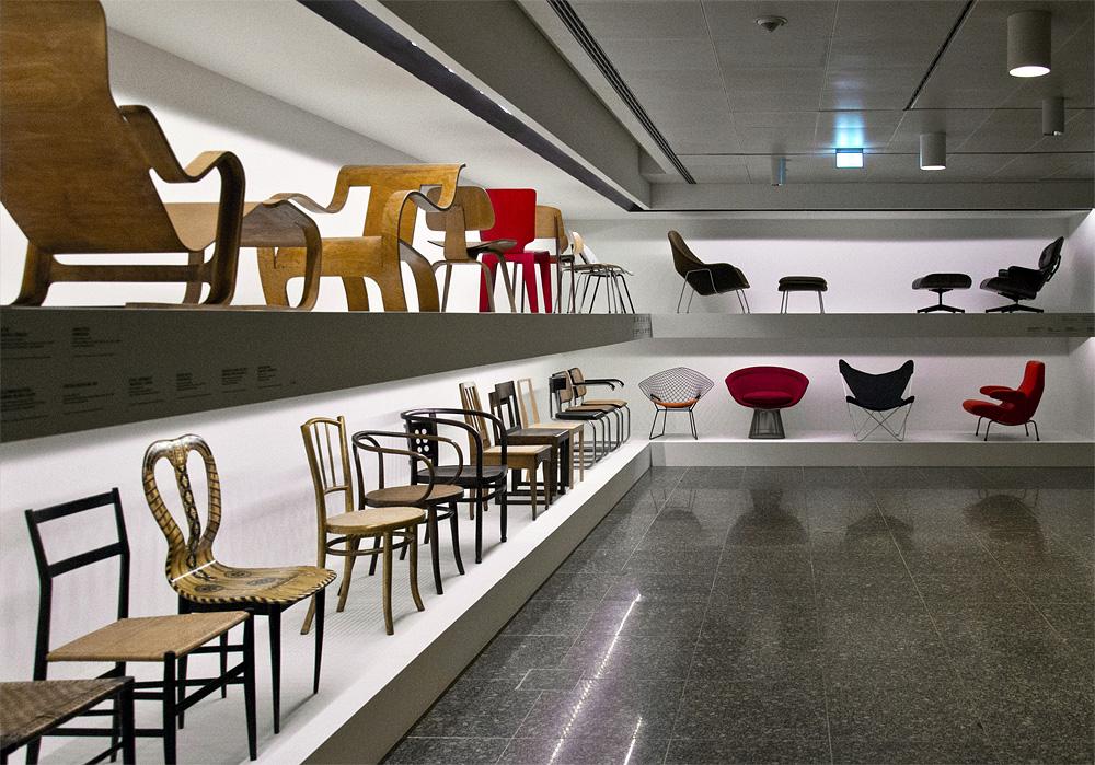 Kunstgewerbemuseum Berlin, Design, Stuhlgalerie