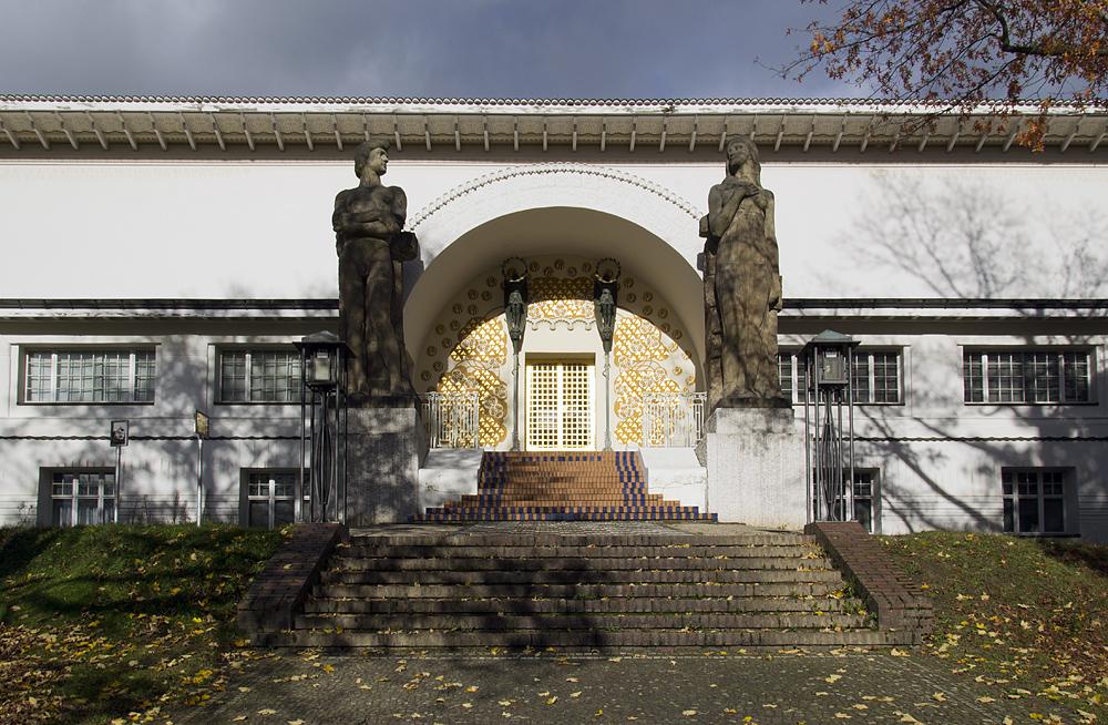 Mathildenhöhe, Künstlerkolonie Darmstadt, Eingang zum Ernst-Ludwig-Haus