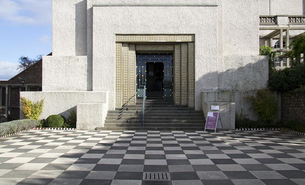 Mathildenhöhe, Künstlerkolonie Darmstadt, Eingang Hochzeitsturm