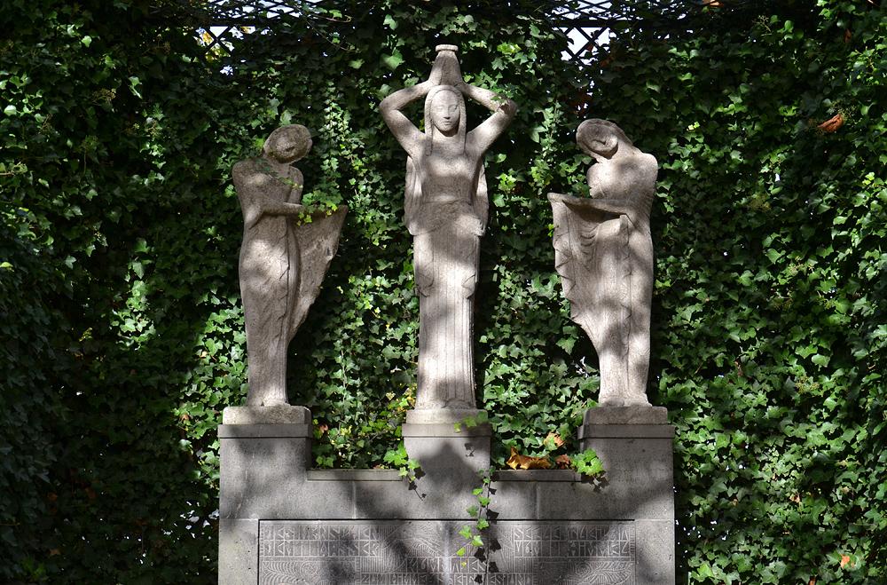 Mathildenhöhe, Künstlerkolonie Darmstadt, Platanenhain, Hoetger-Brunnen