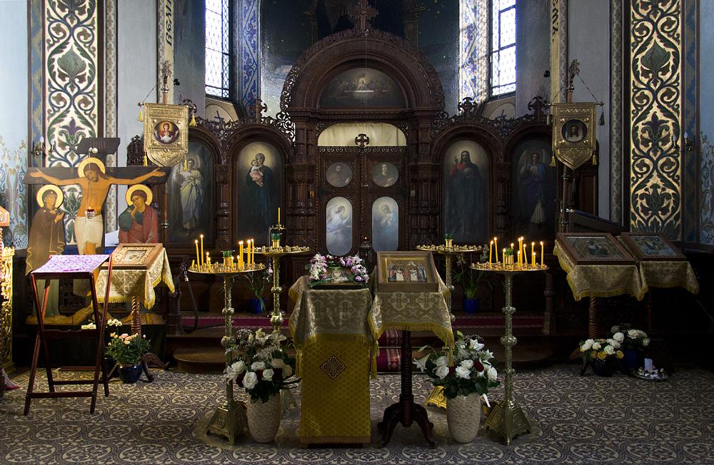 Mathildenhöhe, Künstlerkolonie Darmstadt, Russische Kapelle innen