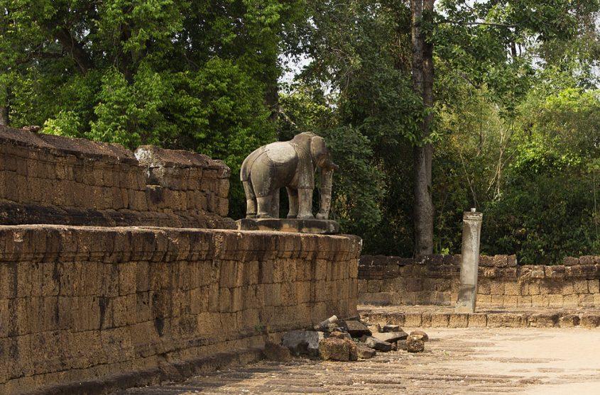 Angkor, Östlicher Mebon, Elefant