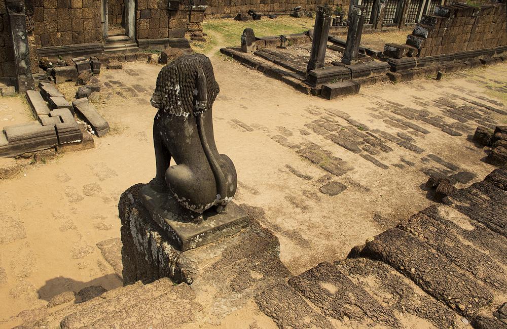 Angkor, Östlicher Mebon, Wächter, Löwe