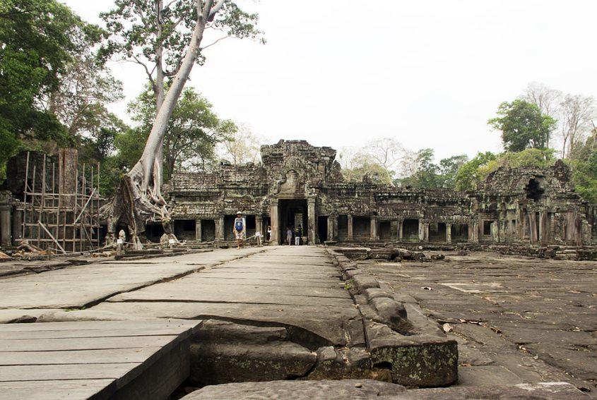 Angkor, Preah Khan, Ost-Eingang