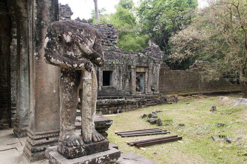 Angkor, Preah Khan, Statue