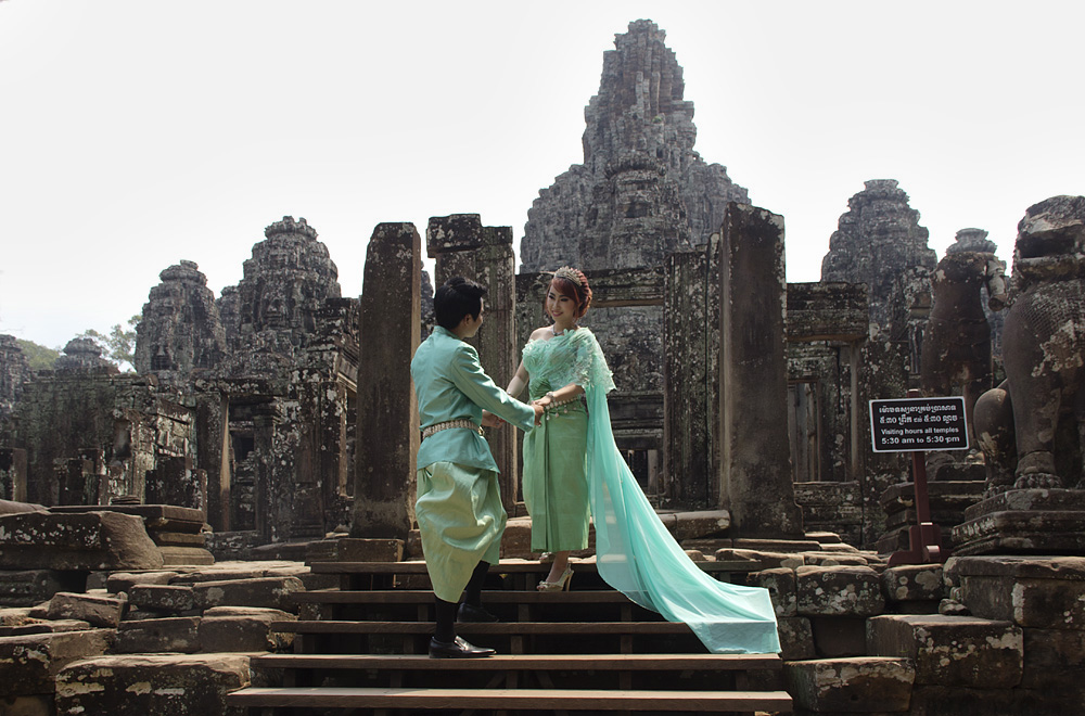 Angkor, Bayon, Hochzeit