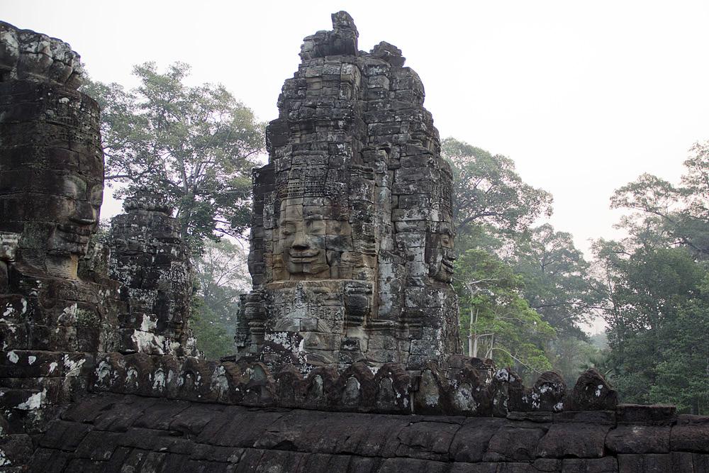 Angkor, Bayon, Gesichter des Lokesvara