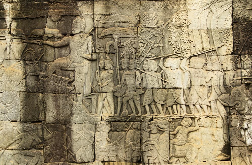 Angkor, Bayon, Relief