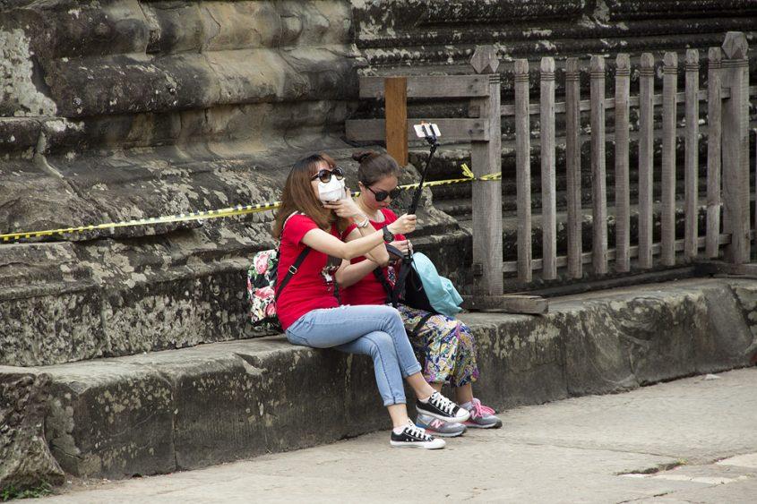 Angkor Wat, Innenhof, Selfie Stick