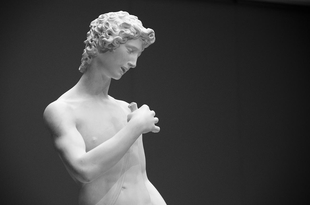 Bode-Museum, Ausstellung Das verschwundene Museum, Giovambattista oder Domenico Pieratti Aristaios, sog. Giovannino (Gipsabguss)