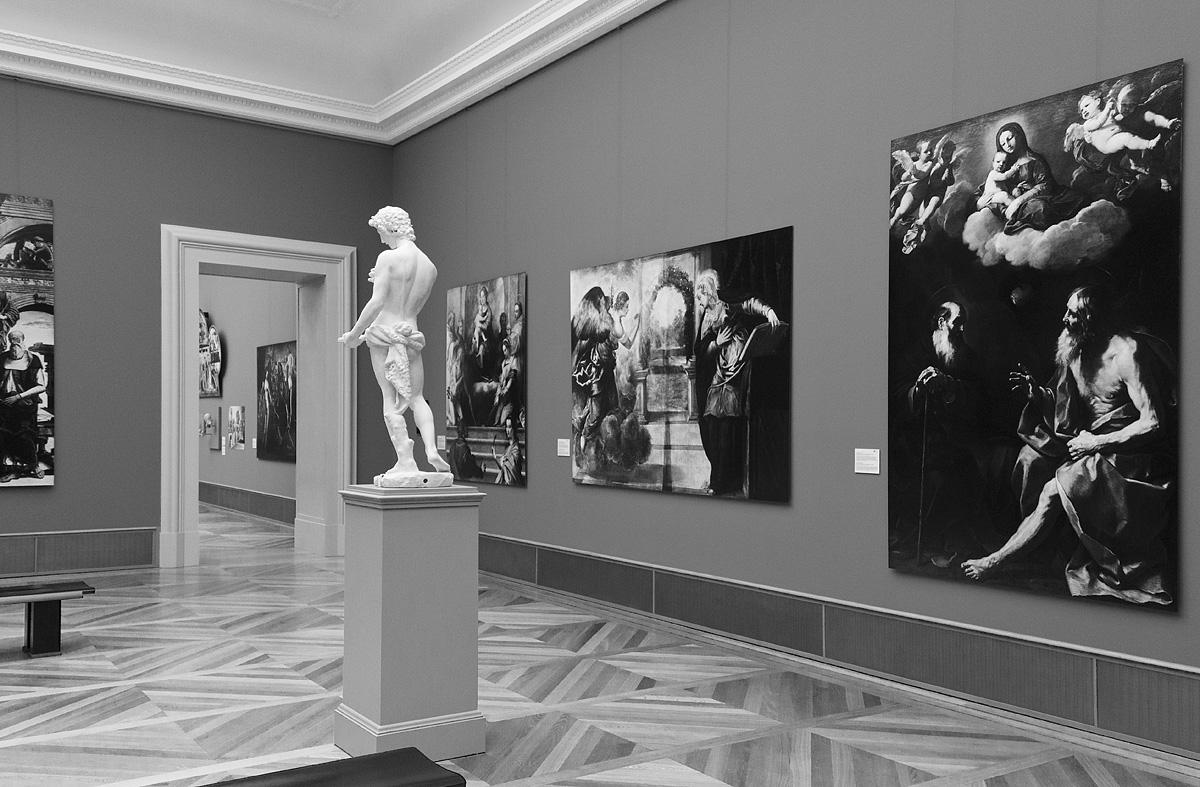 Bode-Museum, Ausstellung Das verschwundene Museum, Werke von Andrea del Sarto, Tintoretto und Guido Reni