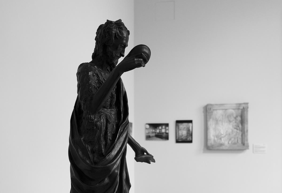 Bode-Museum, Ausstellung Das verschwundene Museum, Donatello, Johannes der Täufer (Gipsabguss)
