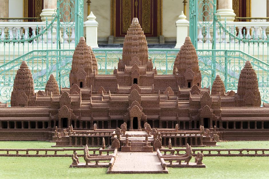 Phnom Penh, Modell von Angkor Wat vor der Silberpagode