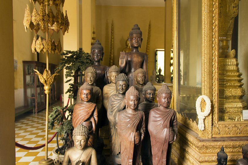 Phnom Penh, Silberpagode, Buddhas