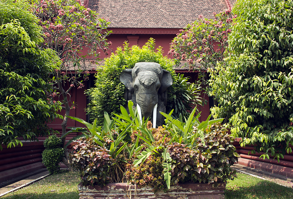 Phnom Penh, Nationalmuseum, Elefant