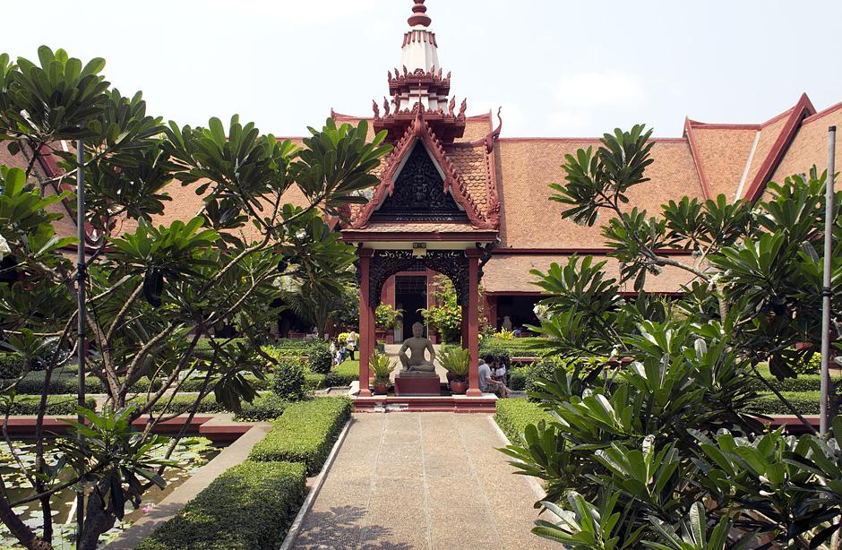 Phnom Penh, Nationalmuseum, Innenhof