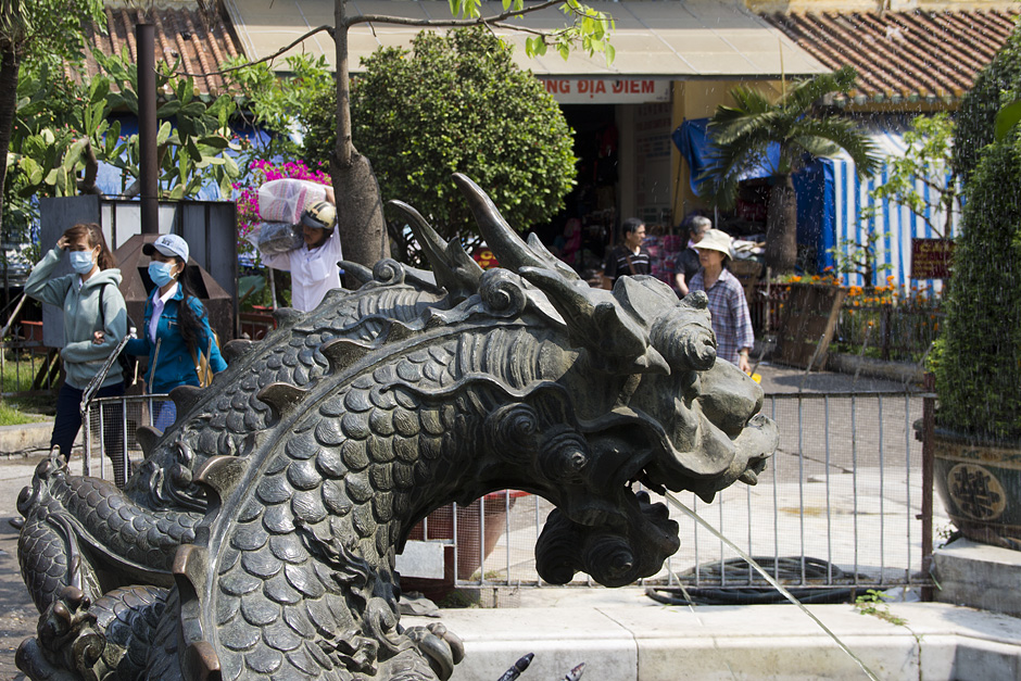 Saigon, Cholon, Drache, Bình-Tây-Markt