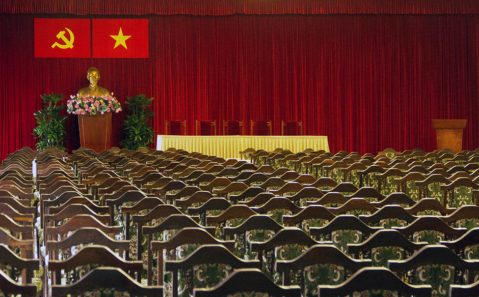 Saigon / Ho-Chi-Minh-Stadt, Unabhängigkeitspalast, Büste Hoh Chi Minh