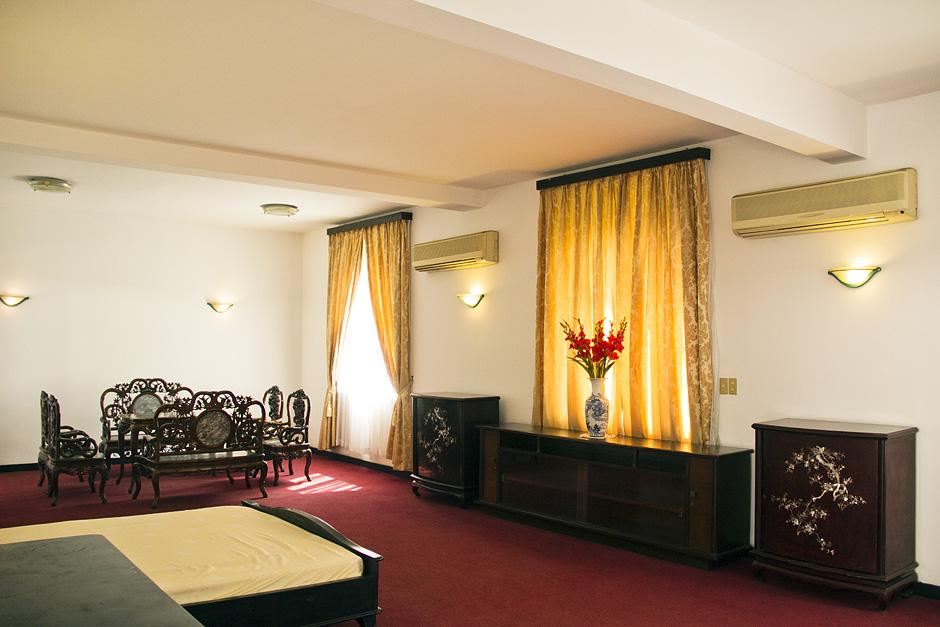 Saigon / Ho-Chi-Minh-Stadt, Unabhängigkeitspalast, Schlafzimmer