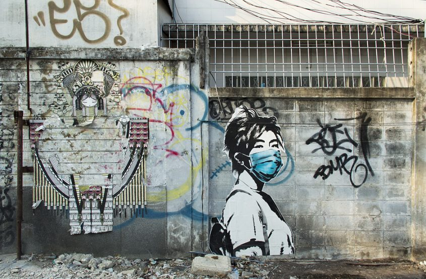 Bangkok, Thanon Chakrabongse, Street Art, Graffiti