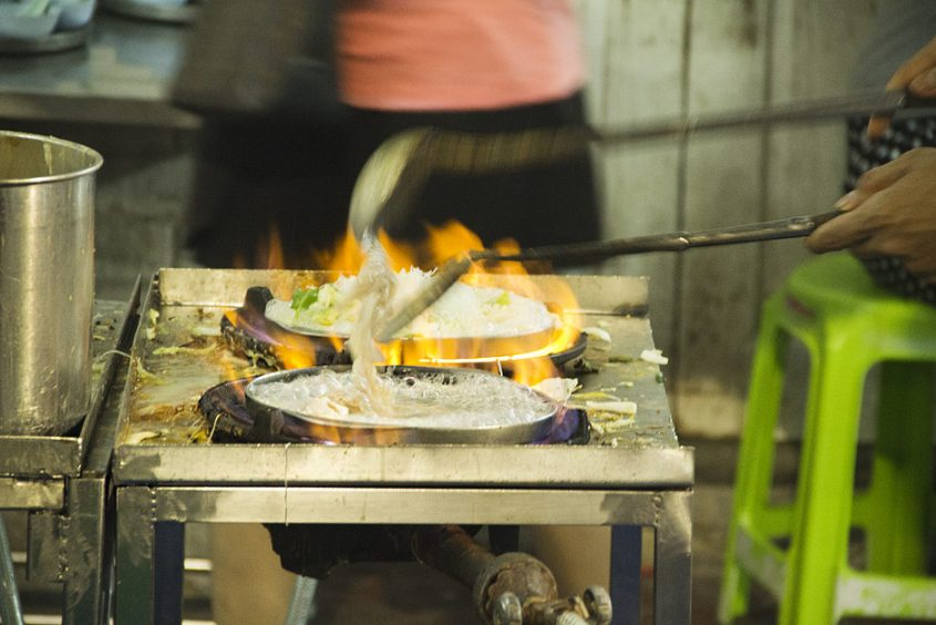 Bangkok, Thanon Tani, Street Food