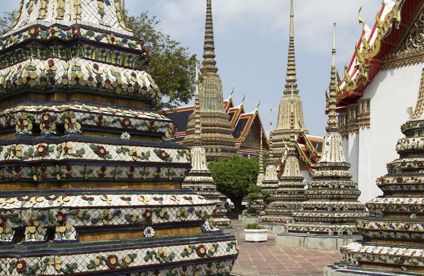 Bangkok, Wat Pho, Chedis