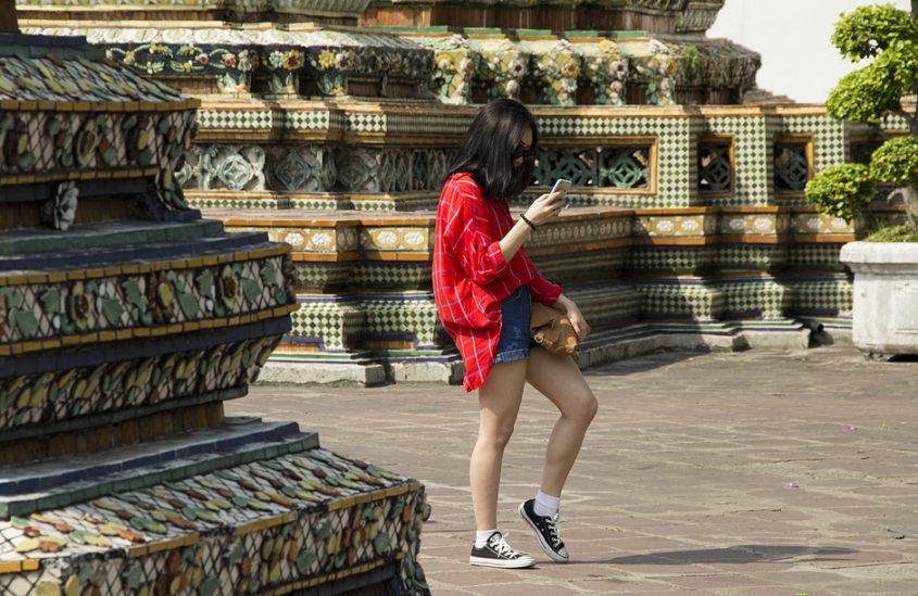 Bangkok, Wat Pho, Selfie, Chedis