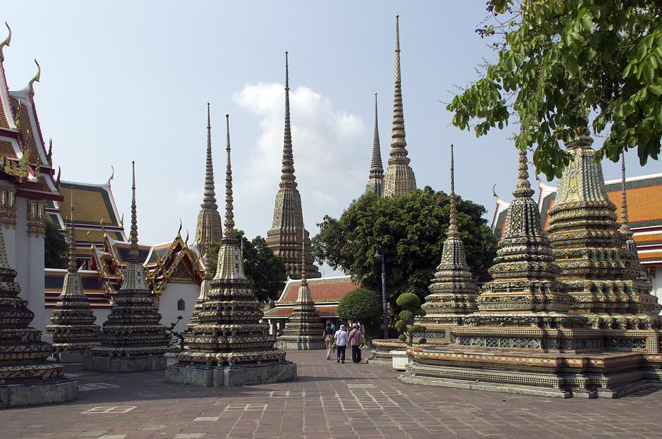 Bangkok, Wat Pho,Chedis