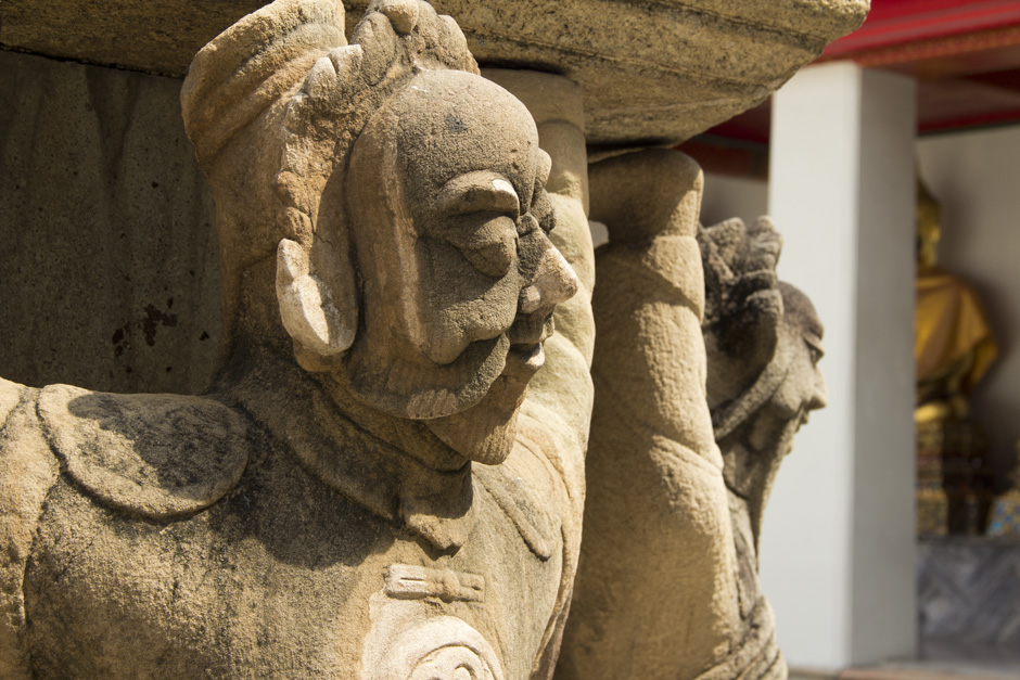 Bangkok, Wat Pho, Chinesische Brunnenfigur