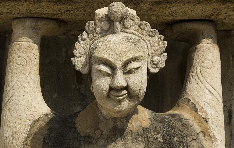 Bangkok, Wat Pho,Chinesische Brunnenfigur