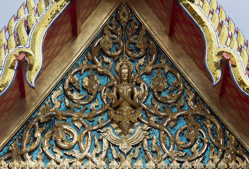 Bangkok, Wat Pho, Giebel